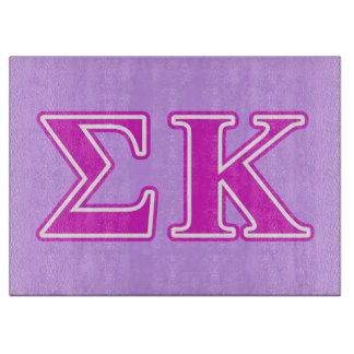 Sigma Kappa Pink Letters Cutting Boards
