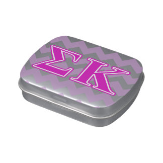 Sigma Kappa Pink Letters Jelly Belly Candy Tins