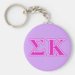 Sigma Kappa Pink Letters Key Chains