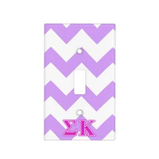 Sigma Kappa Pink Letters Light Switch Plate