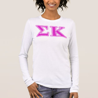 Sigma Kappa Pink Letters Long Sleeve T-Shirt