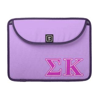 Sigma Kappa Pink Letters MacBook Pro Sleeve