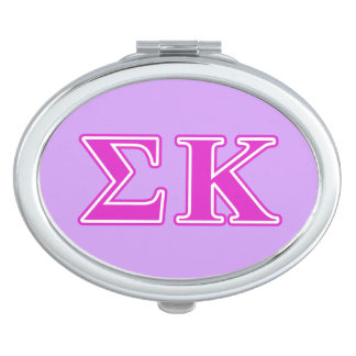 Sigma Kappa Pink Letters Vanity Mirror