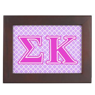 Sigma Kappa Pink Letters Memory Box