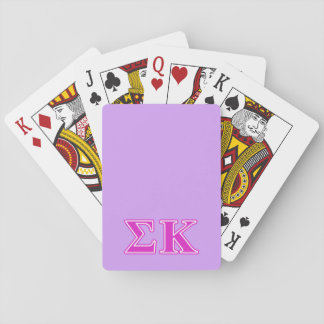 Sigma Kappa Pink Letters Poker Cards