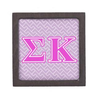 Sigma Kappa Pink Letters Premium Keepsake Box
