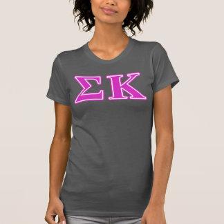 Sigma Kappa Pink Letters T-Shirt