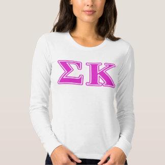 Sigma Kappa Pink Letters Tees