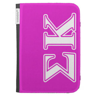 Sigma Kappa White and Lavender Letters Kindle Keyboard Cases