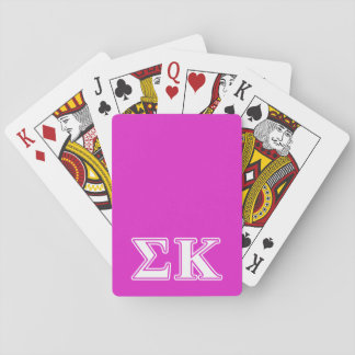 Sigma Kappa White and Lavender Letters Deck Of Cards