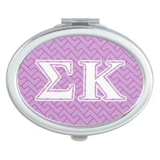 Sigma Kappa White and Lavender Letters Vanity Mirrors
