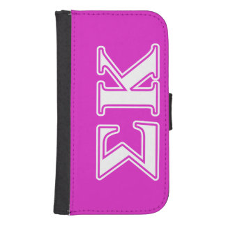 Sigma Kappa White and Lavender Letters Phone Wallet