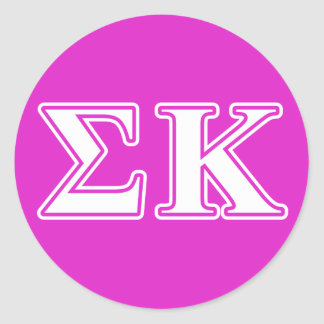Sigma Kappa White and Lavender Letters Sticker