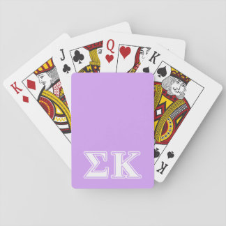 Sigma Kappa White and Pink Letters Card Decks
