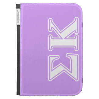 Sigma Kappa White and Pink Letters Kindle Cases
