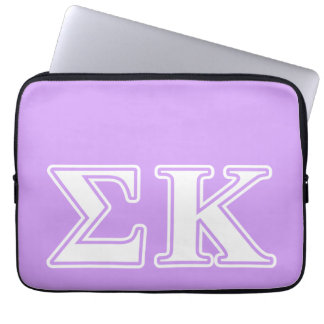 Sigma Kappa White and Pink Letters Laptop Sleeve