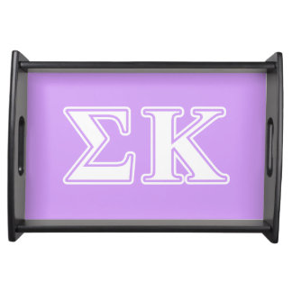 Sigma Kappa White and Pink Letters Serving Platters