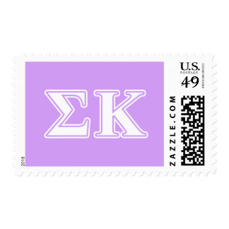 Sigma Kappa White and Pink Letters Postage