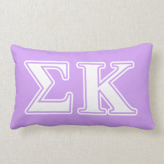 Sigma Kappa White and Pink Letters Throw Pillow