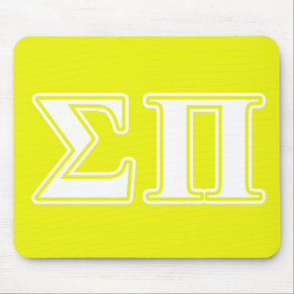 Sigma letras blancas y amarillas del pi mouse pad