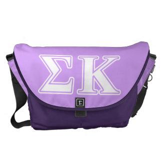 Sigma letras blancas y rosadas de Kappa Bolsas De Mensajeria