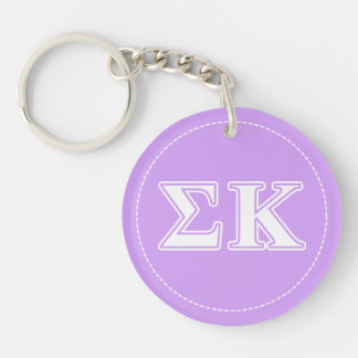 Sigma letras blancas y rosadas de Kappa Llaveros