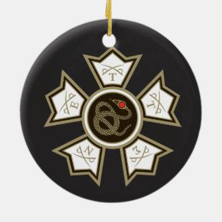 Sigma Nu Badge Ceramic Ornament
