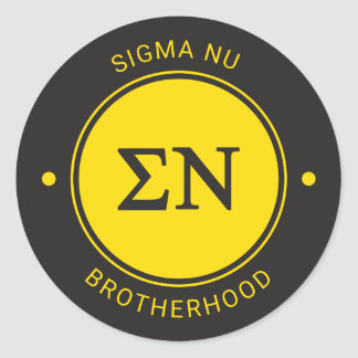 Sigma Nu | Badge Classic Round Sticker