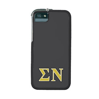 Sigma Nu Black and Gold Letters Cover For iPhone 5