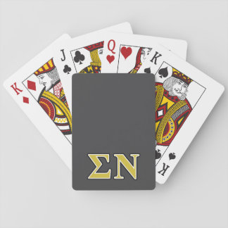 Sigma Nu Black and Gold Letters Deck Of Cards