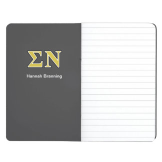 Sigma Nu Black and Gold Letters Journal