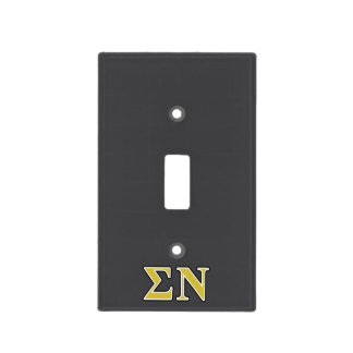 Sigma Nu Black and Gold Letters Light Switch Plate