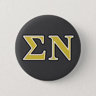 e46a7f34382 Sigma Nu Black and Gold Letters Pinback Button