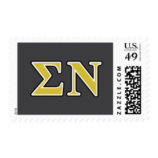 Sigma Nu Black and Gold Letters Stamp