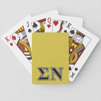 Sigma Nu Black Card Decks