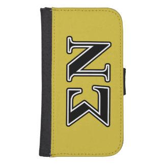 Sigma Nu Black Galaxy S4 Wallet Case