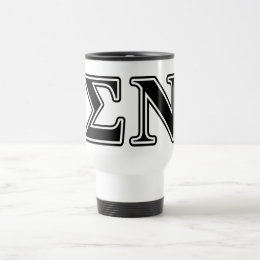 Sigma Nu Black Travel Mug