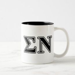 Sigma Nu Black Two-Tone Coffee Mug
