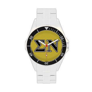 Sigma Nu Black Wristwatches