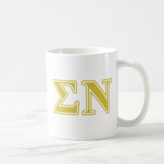 Sigma Nu Gold Letters Classic White Coffee Mug