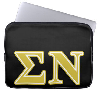 Sigma Nu Gold Letters Computer Sleeves