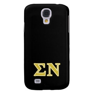Sigma Nu Gold Letters Galaxy S4 Covers