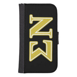 Sigma Nu Gold Letters Galaxy S4 Wallet