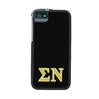 Sigma Nu Gold Letters iPhone 5 Case