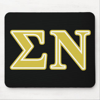 Sigma Nu Gold Letters Mouse Pad