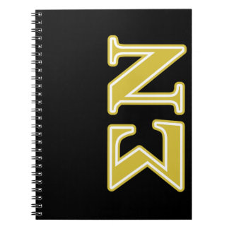 Sigma Nu Gold Letters Notebook