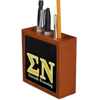 Sigma Nu Gold Letters Pencil Holder