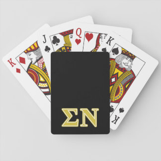 Sigma Nu Gold Letters Playing Cards