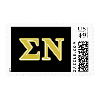 Sigma Nu Gold Letters Stamps