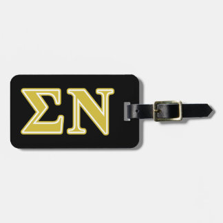 Sigma Nu Gold Letters Tags For Luggage